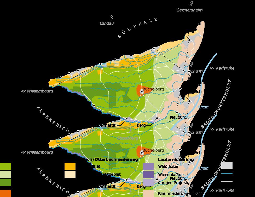 Karte Bienwald