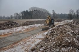 Bau der neuen Gewässerspange